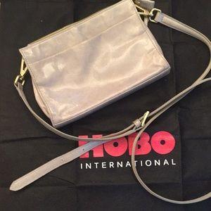 HOBO-100% leather-gray- cross body